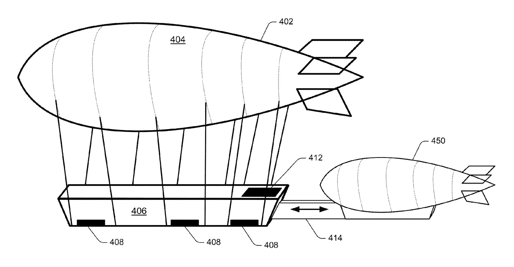 Amazon was approved for a patent in April for airborne warehouses that use drones to make speedy deliveries. An illustration from Amazon's patent shows how the system may work.
