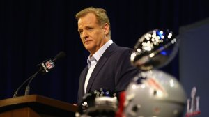 NFL Commissioner Roger Goodell speaks with the media during a press conference at the George R. Brown Convention Center on February 1, 2017 in Houston, Texas. (Getty Images)