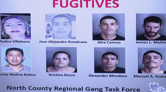 North County Regional Task Force announced they are looking for these suspects.