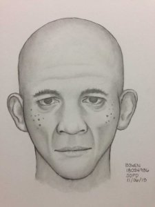 San Diego Police Department released a composite illustration based on the description provided by the victim.