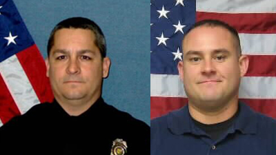 Officers David Gogian, 50, and Jeff Atherly, 29, both of the Topeka Police Department were killed in the line of duty Sunday, Dec. 16, 2012 after exchanging fire David Tiscareno, 22, of Topeka.