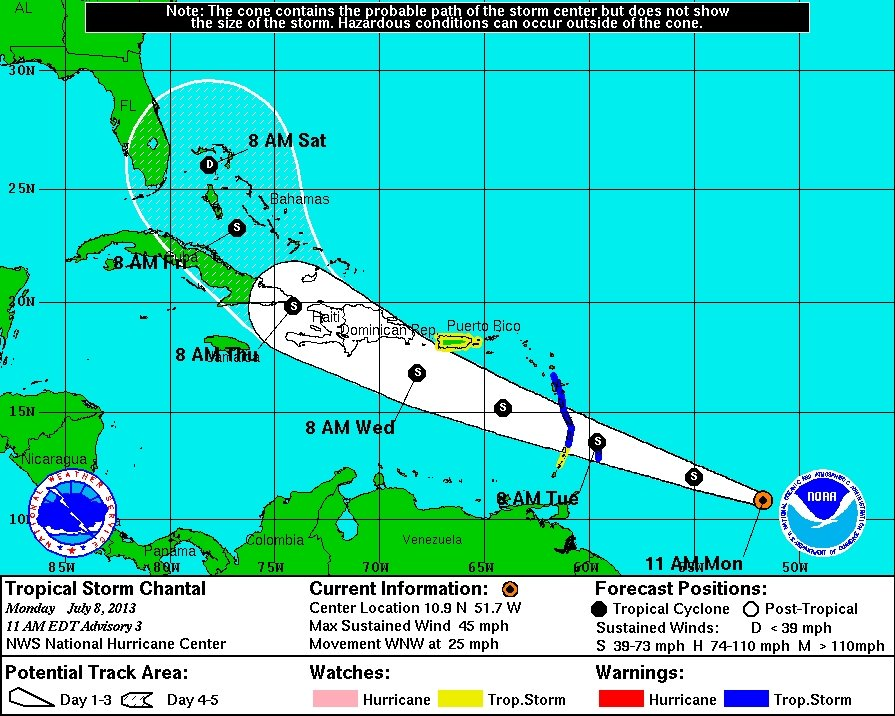 Tropical Storm Chantal