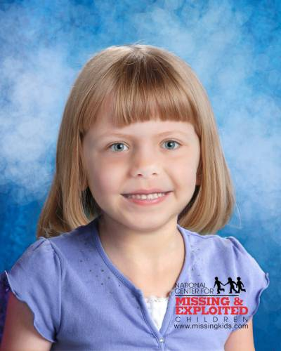 This photo of Lisa Irwin has been age progressed to three years. Courtesy: National Center for Missing and Exploited Children