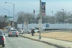 Crime scene near KCK City Hall after a deadly shooting on January 16. (Photo Courtesy: Alex Eskina/Twitter: @AlexEskina)