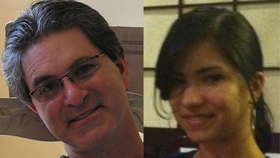 (on left) Harold 'Hal' Sasko, 52, (on right) Sarah Gonzales McLinn, 19
