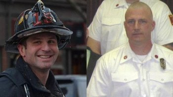 Firefighters Mike Kennedy and Ed Walsh were killed in the line of duty during a 9-alarm fire in Boston on March 25,2014. (Photo: Boston Fire Department)