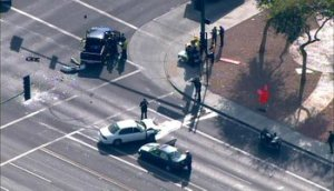Two police officers were shot in Phoenix Monday, March 3, 2014. (Photo: KNXV-TV)