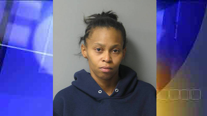 Ashley Tull's booking photo from Delaware State Police