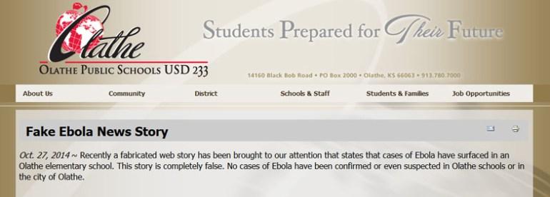Ebola news story