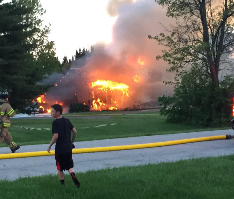 FOX 4 viewer Tristin Lair shared this photo of the fire on Twitter.