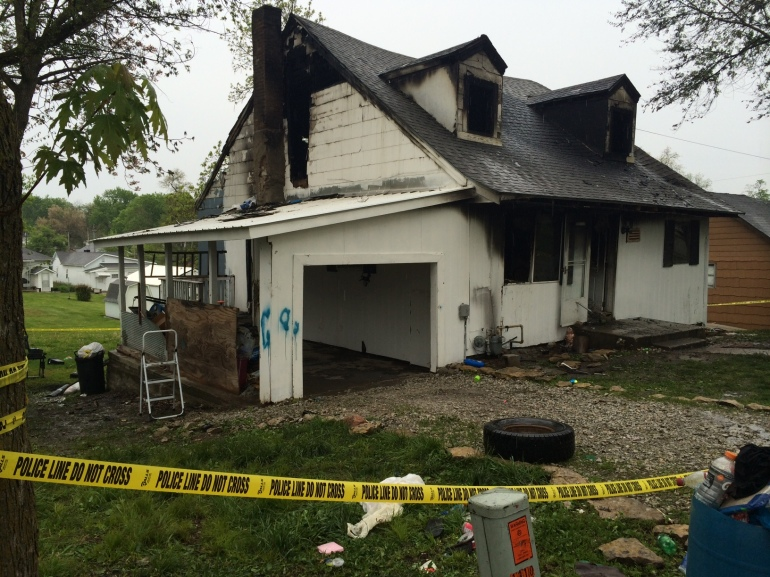 Trenton home where four children died on May 1.