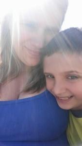 10-year-old Devon Rice (right)