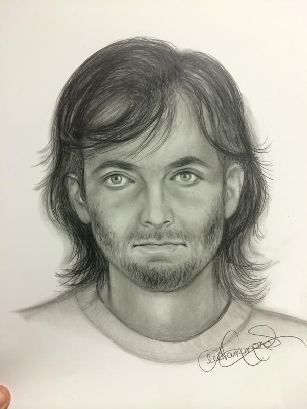 Sketch of the double shooting suspect from Tuesday morning at 10309 Virginia. Photo Credit: Kansas City Police Twitter