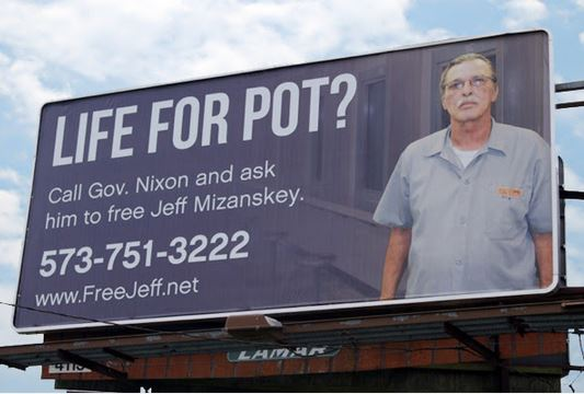 Free Jeff Mizanskey campaign. From the Free Jeff Mizanskey Facebook page.
