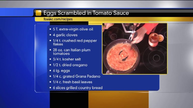 Eggs scrambled in tomato sauce ingredients