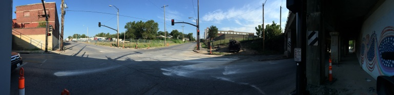 The scene of deadly crash at 9th and Hardesty.