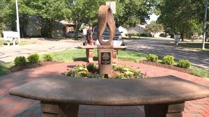 Memorial dedicated to five victims killed in South KC on Sept. 2, 2014.