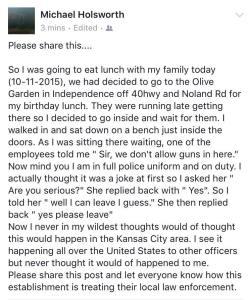 Michael Holsworth's Facebook post