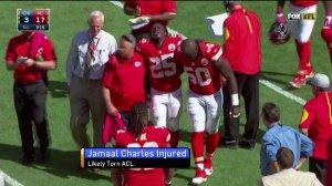 Jamaal Charles injures knee