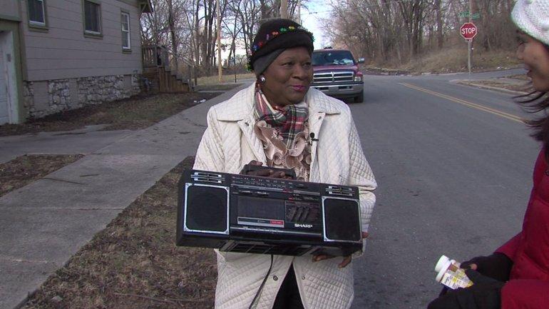 Mosley with Gilmore's radio