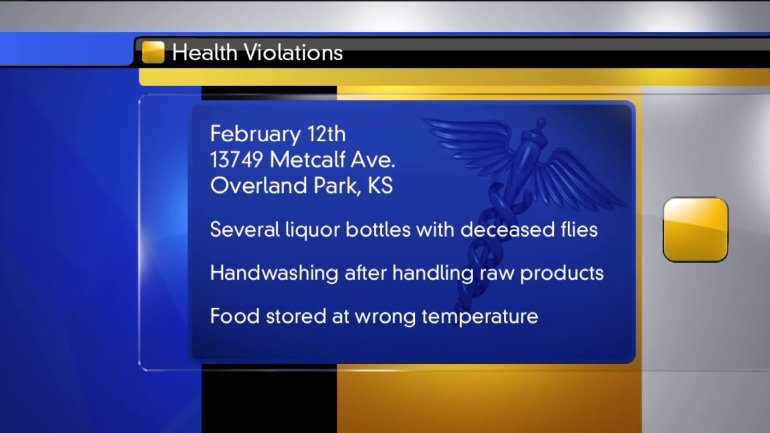 Health violations found at another Overland Park Buffalo Wild Wings.