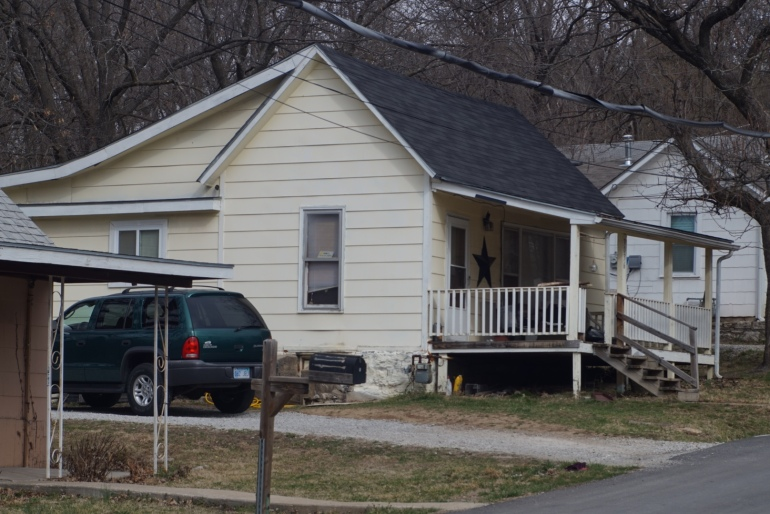 A look at the scene where four people were shot to death Monday, March 7 in Kansas City, Kan.