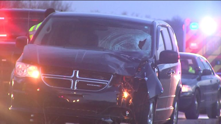 A man was driving south on 169-Highway Thursday around 5:15 a.m., when he hit and killed a 24-year-old man walking in the middle of the highway.