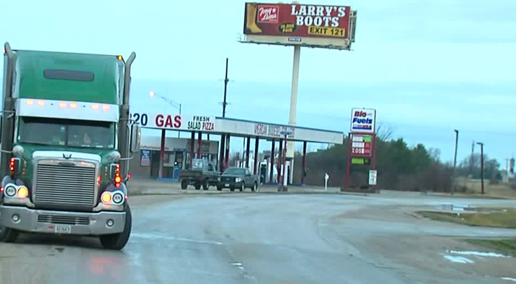Authorities say they found Serrano-Vitorino in a culvert near this convenience store just after 12 a.m., Wednesday.