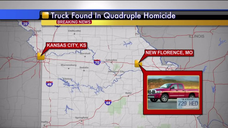 Serrano-Vitorino's Red 2002 Dodge Ram was found near New Florence, Mo., around 8:15 a.m., Tuesday morning.
