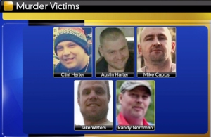 Five men murdered; four on Monday, March 7 and one on Tuesday March 8.