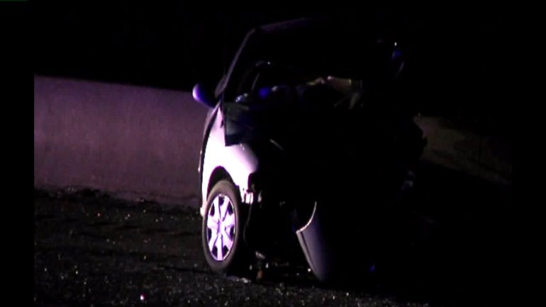 One of the vehicles involved in a fatal wrong way crash near I-29 and 64th Street Thursday morning.
