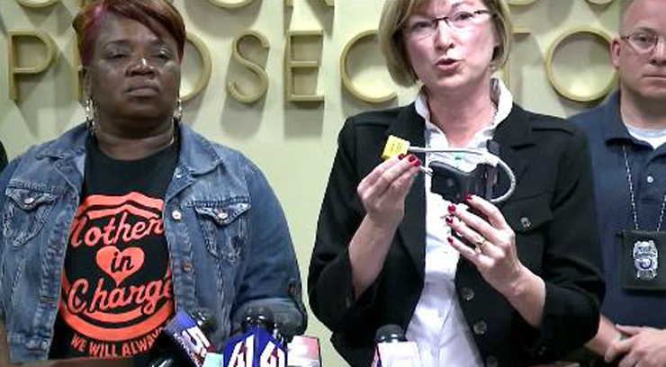 Prosecutor stressed the importance of gun locks, which are available for free at locations around the metro.