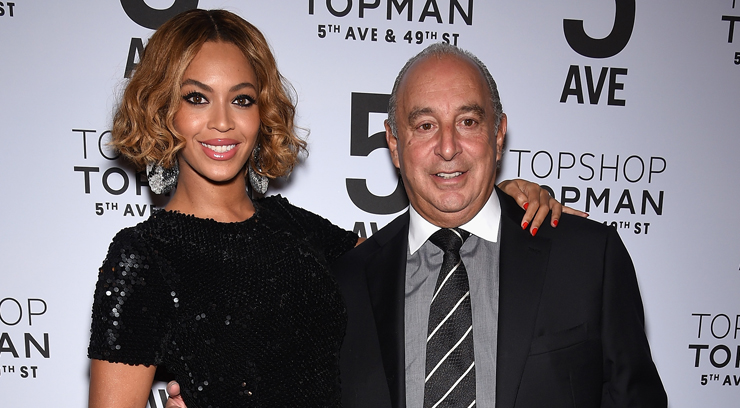 NEW YORK, NY - NOVEMBER 04: Beyonc? Knowles and Sir Philip Green attend the Topshop Topman New York City flagship opening dinner at Grand Central Terminal on November 4, 2014 in New York City. (Photo by Dimitrios Kambouris/Getty Images)
