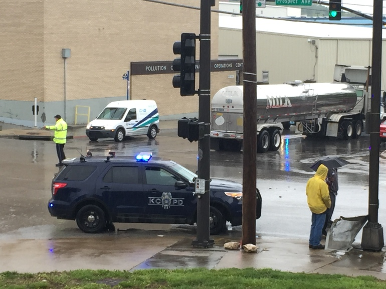 An ATA bus collided with a tanker truck near 18th and Prospect around 8:20 a.m., Tuesday.