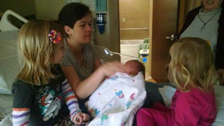 Courtesy Jay Pudenz -Ashley's father. Ashley with her newborn. Both died in the crash.