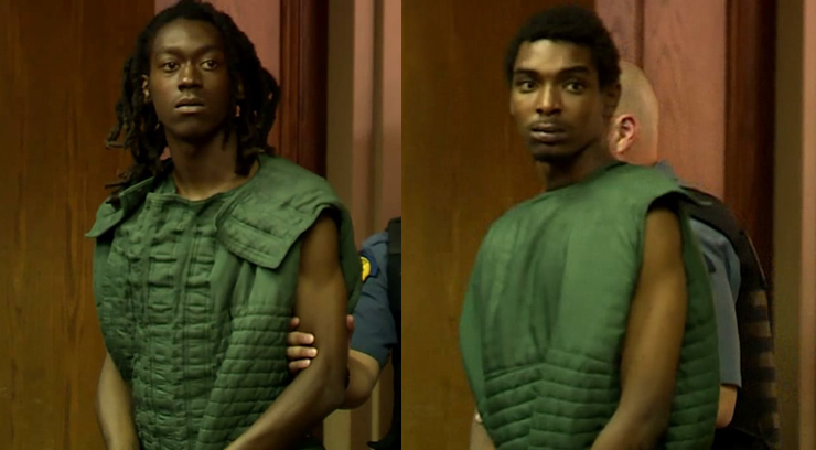 (From left to right) Jamaal Lewis and Daqon Sipple made their first appearance in court on Friday.