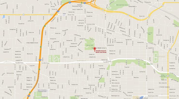 Map of Kansas City, Kan.