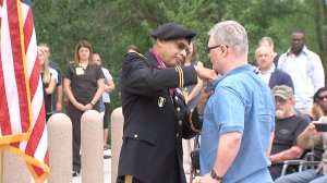 Vietnam veteran Alex Fulton receives an official pinning ceremony on Monday for the Purple Heart he received in 1968.