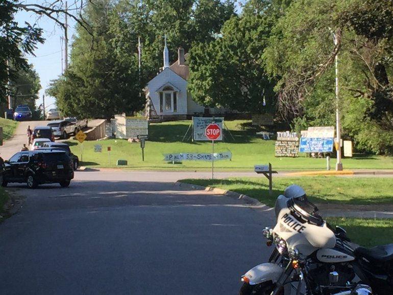 KCK police are on the scene of a standoff Tuesday.