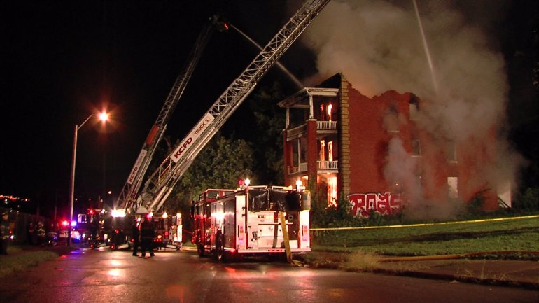Fire significantly damages building near 11th and Tracy.