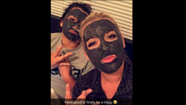 This is a screenshot of a Snapchat sent to FOX 4. The Snapchat selfie from a K-State student resulted in her leaving K-State because of what many perceived as the racist nature of the Snapchat.