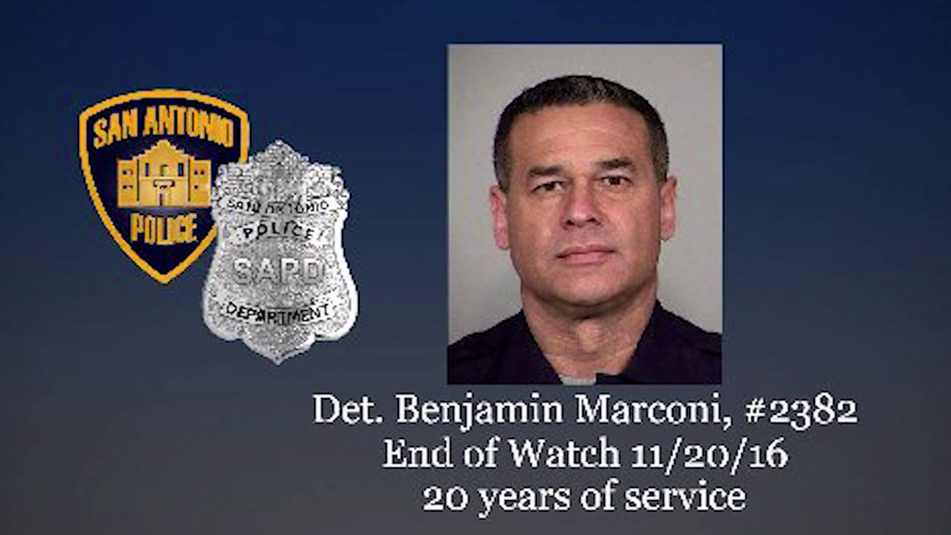 Det. Benjamin Marconi was killed in the line of duty Sunday, Nov. 20.