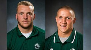 Cole Forney (left) and Jacob Vollstedt. Photos via bearcatsports.com