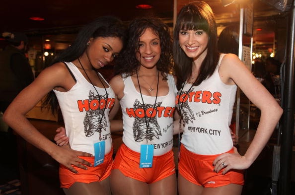 NEW YORK - FEBRUARY 14:  Hooters girls backstage at the Alexander Wang Fall 2009 fashion show during Mercedes-Benz Fashion Week at Roseland Ballroom on February 14, 2009 in New York City.  (Photo by Astrid Stawiarz/Getty Images)