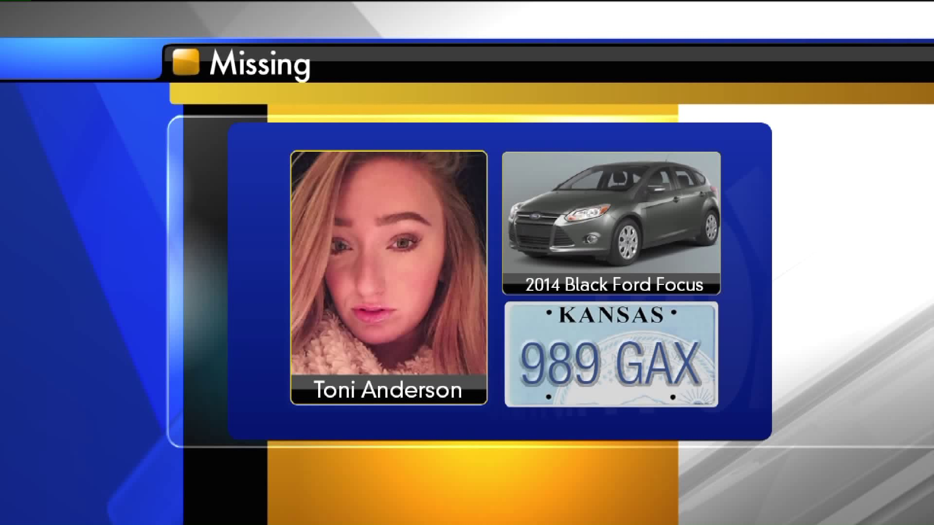 Toni Anderson has been missing since Sunday, Jan. 15.