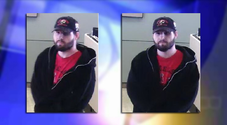 Police released surveillance footage of a suspect in a bank robbery on Wednesday.