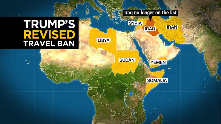 Iraq was removed from the revised travel ban executive order.