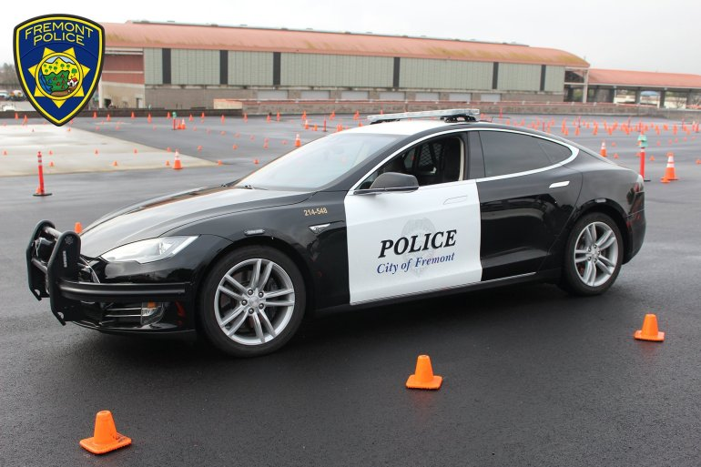 Picture of Tesla cop car