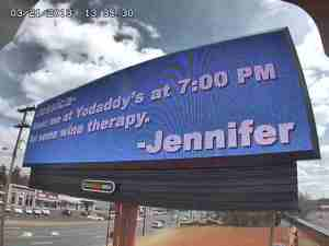 Billboard screenshot from around 2:30 p.m. Thursday (WGHP)