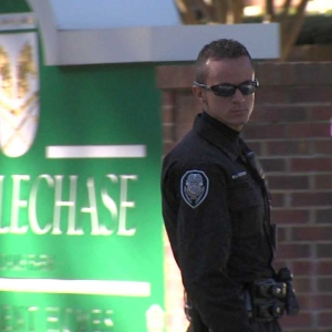 Police on the scene of shooting at Steeplechase Apartments complex at 1404 Adams Farm Parkway (WGHP)